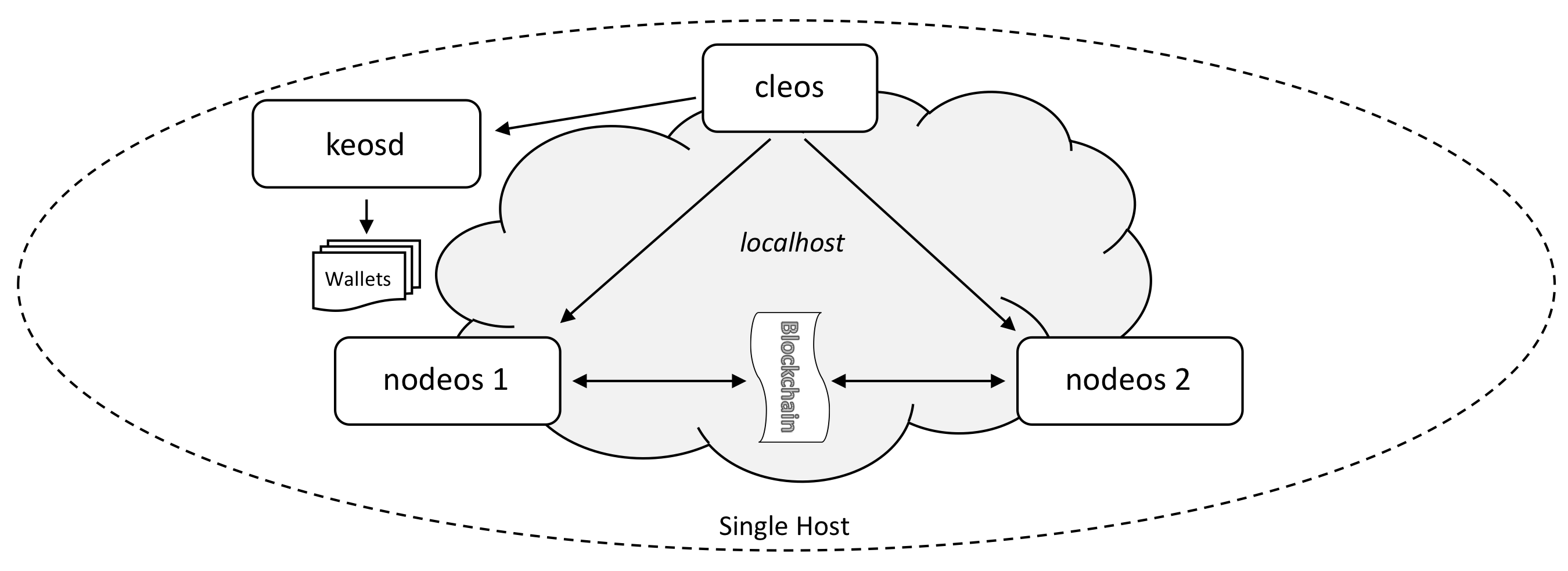 Single host multi node testnet